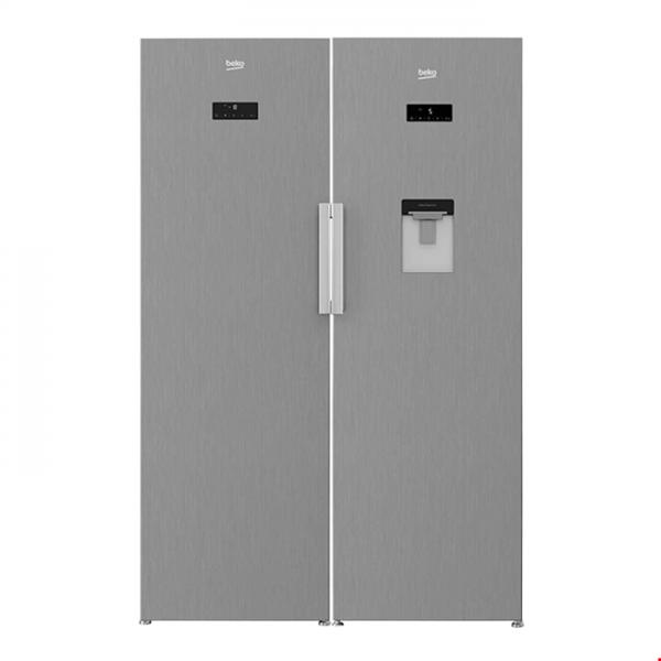 یخچال و فریزر بکو مدل 350E23X استیل