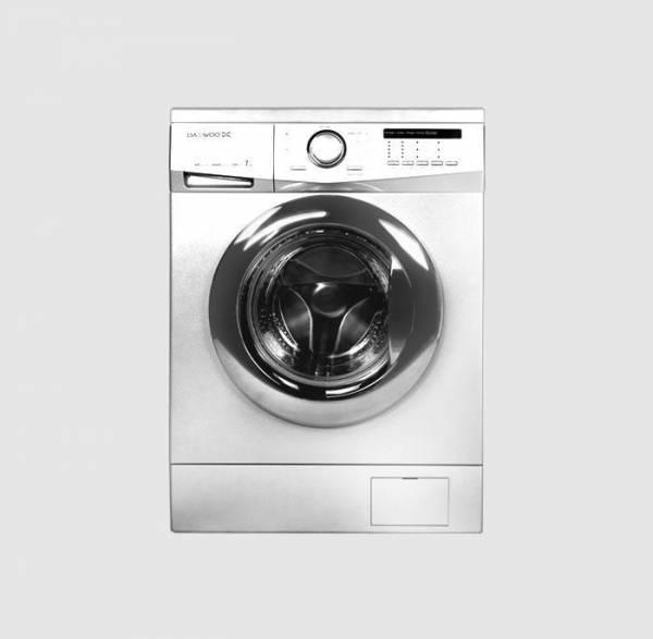 ماشین لباسشویی سری اِف، ۷ کیلویی، سفید درب کروم دوو DWK-7112C