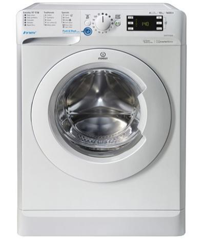 ماشين لباسشویی ایندزیت ۱۰ کیلوگرمی مدل BWE 101684 XW UK