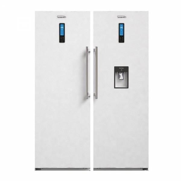 یخچال و فریزر دو قلوی 24 الکترواستیل سفید پشت بسته